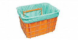 Electra Dots, Orange w/ Light Blue, Basket Liner