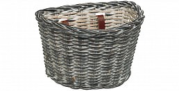 Electra Wicker Basket, Black Wash