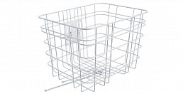 Electra Steel Basket, White