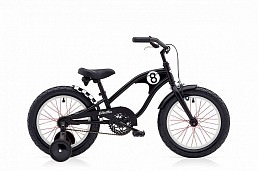 Electra Straight 8 Kids' 16'' Boys' Matte Black