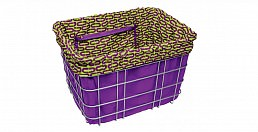 Electra Ovals, Purple w/ Yellow, Basket Liner